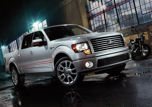 2013 Ford F-150 Harley-Davidson Edition with motorcycle