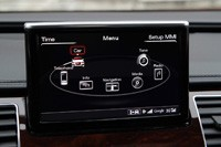 2014 Audi A8 L TDI vehicle settings display