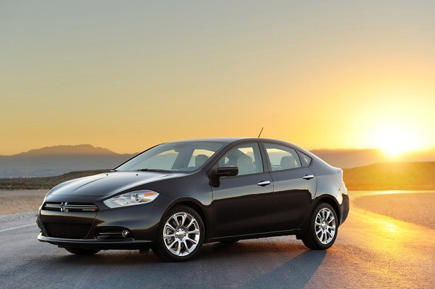 2013 Dodge Dart - front three-quarter view at sunset