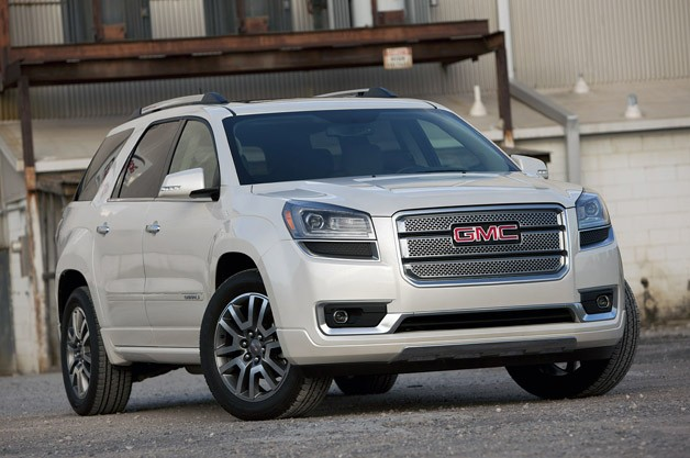 2013 GMC Acadia Denali - front three-quarter view, white