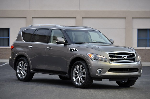 2013 Infiniti QX56 - front three-quarter view