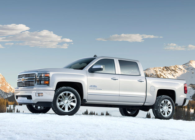 2014 Chevrolet Silverado High Country - on a snow-covered mountaintop