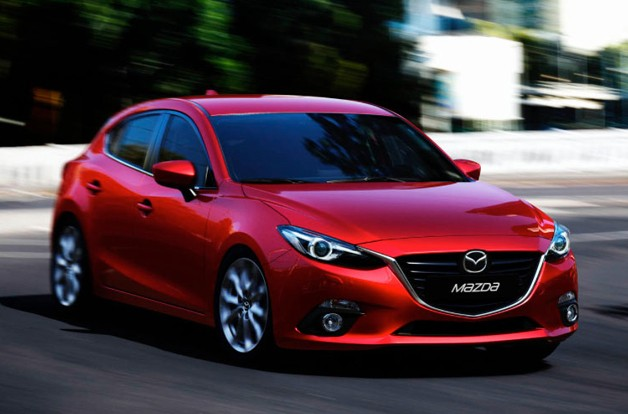 2014 Mazda3 - front three-quarter dynamic view