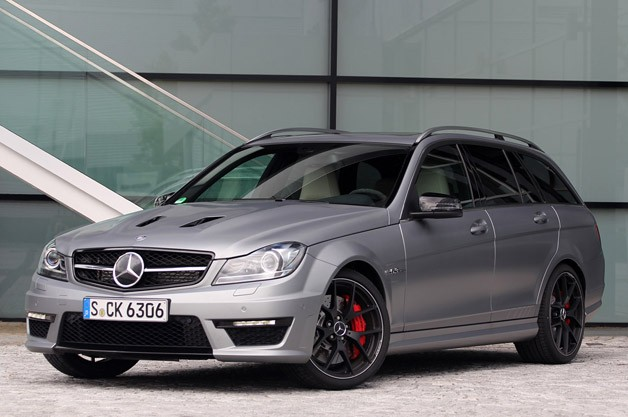 2014 Mercedes-Benz C63 AMG Edition 507 Wagon - front three-quarter view