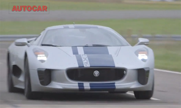 Jaguar C-X75 - Autocar drive video screencap
