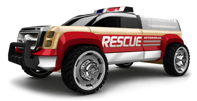 Automoblox Emergency Line pickup rescue vehicle