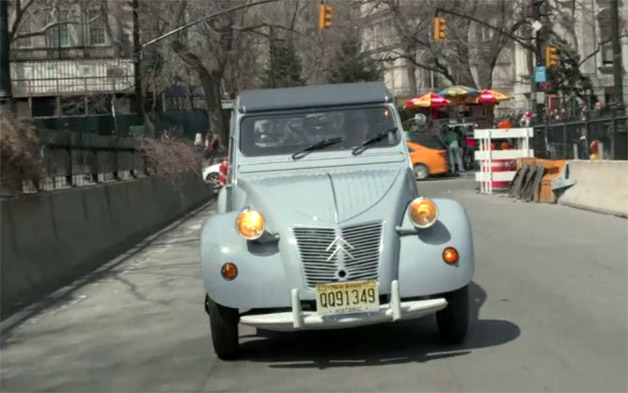 Jerry Seinfeld's Comedians In Cars Getting Coffee with Citroen 2CV - video screencap