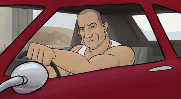 Fast and Furious 6 - How It Should Have Ended cartoon parody - screencap