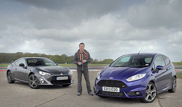 Ford Fiesta ST versus Toyota GT86 by Evo - video screencap