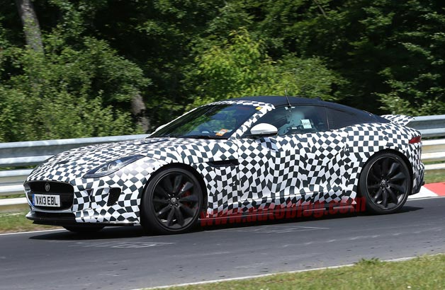Jaguar F-Type Coupe spy shots