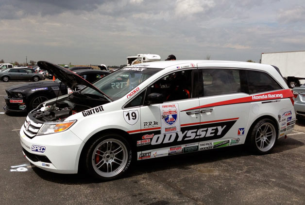 Factory-prepared Honda Odyssey race minivan as seen at 2013 One Lap of America