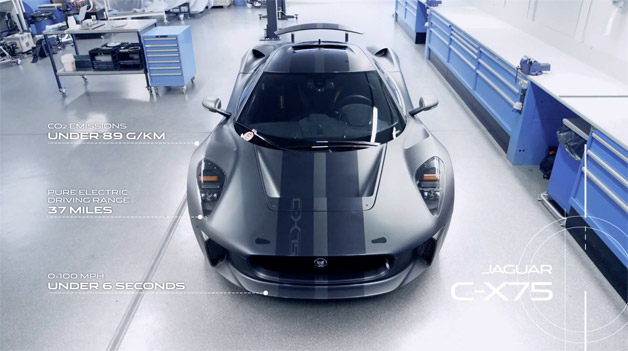 Jaguar C-X75 Concept Story - video screencap