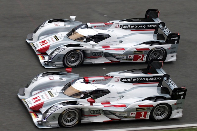 Audi R18 E-tron Quattro cars one and two