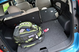 2014 Nissan Versa Note rear cargo area