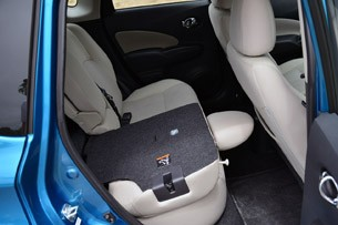 2014 Nissan Versa Note folded rear seats