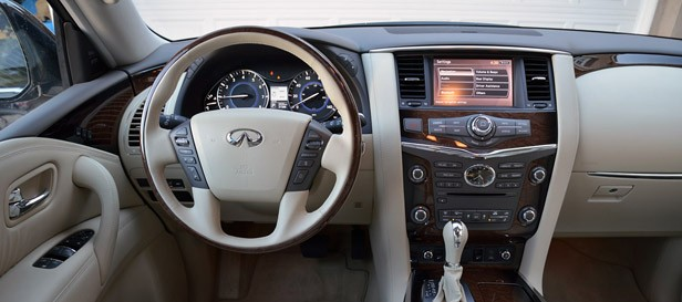 infiniti s design team made the qx56 s cabin nothing