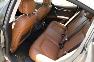 2014 Maserati Ghibli rear seats
