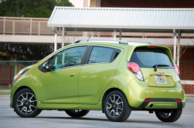 2013 Chevrolet Spark rear 3/4 view