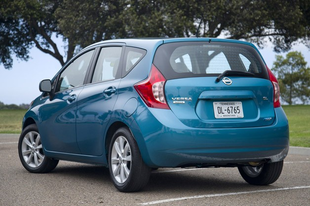 2014 Nissan Versa Note rear 3/4 view
