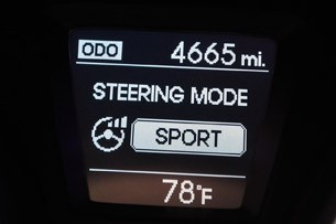 2013 Hyundai Elantra GT steering mode display