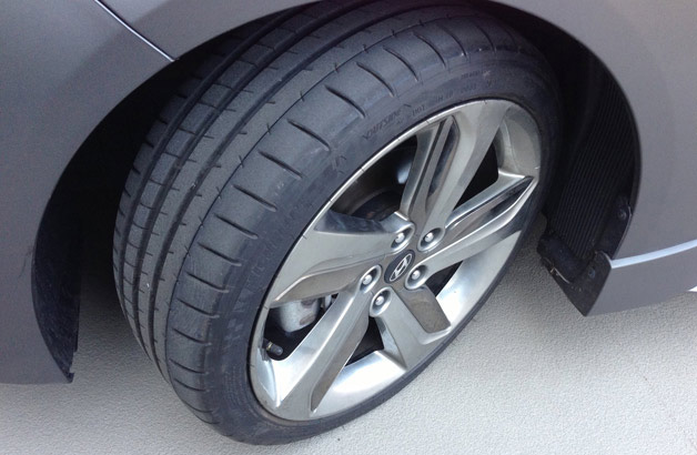 Michelin Pilot Super Sport tires on the long-term Hyundai Veloster Turbo
