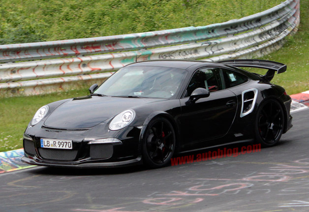 porsche 911 gt2 caught testing is super bad. Black Bedroom Furniture Sets. Home Design Ideas