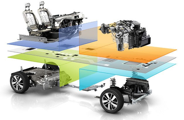 Renault-Nissan Alliance's Common Module Family platform - exploded parts diagram view