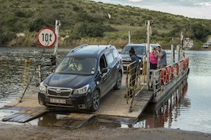 2014 Subaru Forester XT water crossing in South Africa