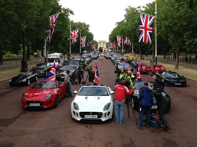Top Gear readies Best of British special outside of Buckingham Palace