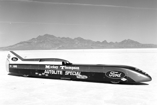 Mickey Thompson Autolite Special - vintage LSR car photograph at Bonneville