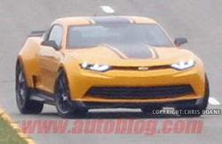 Transformers 4 filming spy shot with Bumblebee