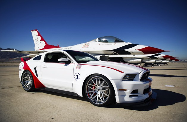 2014 Ford Mustang GT US Air Force Thunderbirds Edition with fighter plane