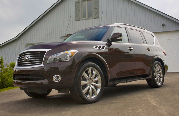 2014 Infiniti QX80 SUV - front three-quarter view