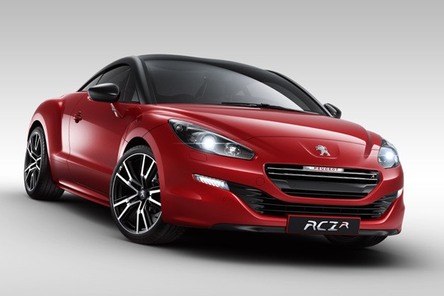 2014 Peugeot RCZ R - front three-quarter view, deep red