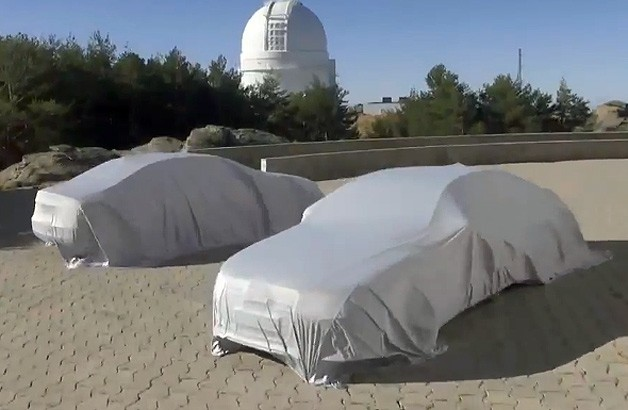 Audi teaser with mystery sedan under covers - 2015 A8? - video screencap