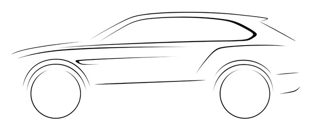 Bentley Suv Sketch