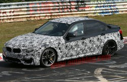 2015 BMW M3 - spy shot on 'Ring