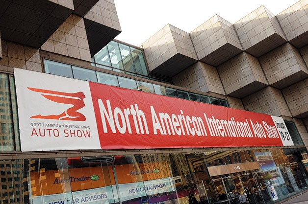 2013 North American International Auto Show - Cobo Hall sign