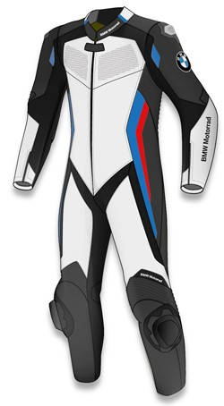 BMW Motorrad racing suit jointly developed with Dainese features airbag protection.