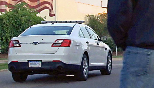 Ford Police Interceptors are to gain a surveillance mode, which uses park-assist technology to protect police officers.