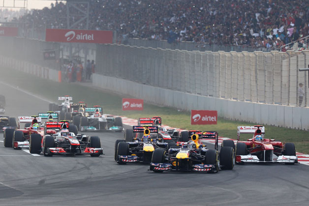 2011 Indian Grand Prix first corner