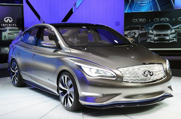 Infiniti LE electric vehicle - front three-quarter view at 2012 NY Auto Show