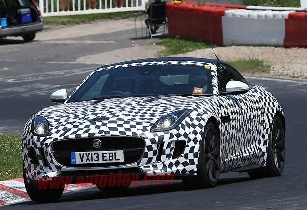 Jaguar F-Type Coupe Spied at the Nurburgring