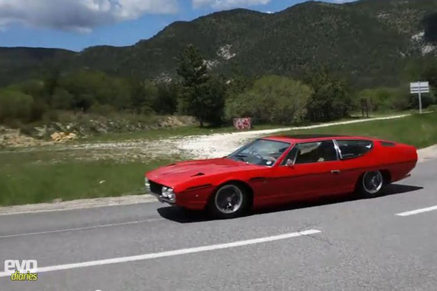 1978 Lamborghini Espada road trip - EVO video screencap