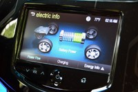 2014 Chevrolet Spark EV electric info display
