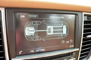 2014 Porsche Panamera S E-Hybrid energy flow display
