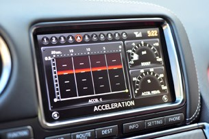 2014 Nissan GT-R acceleration timer display
