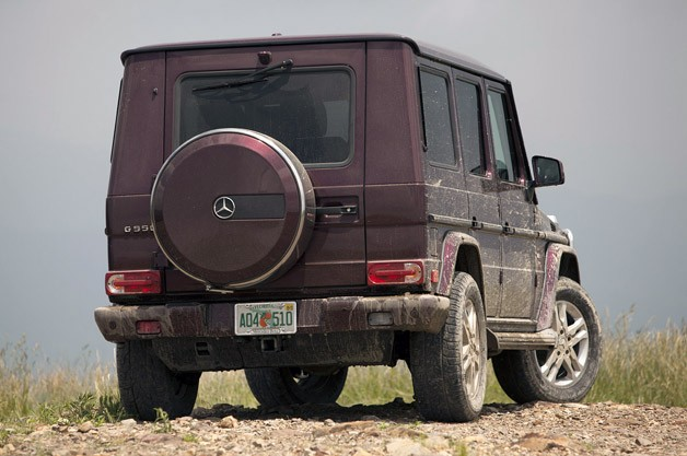 2013 Mercedes-Benz G550 rear 3/4 view