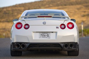 2014 Nissan GT-R rear view
