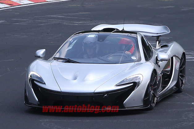 McLaren P1 XPR2 prototype on 'Ring - spy shot - front three-quarter view